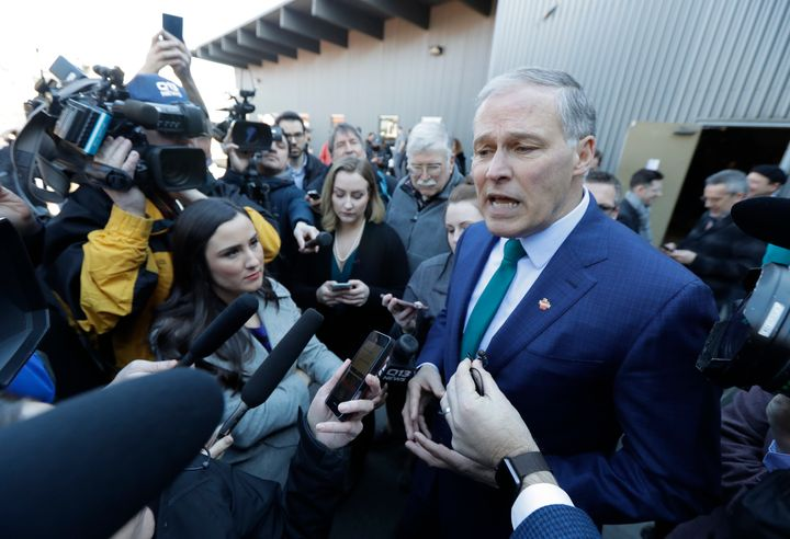 Washington Gov. Jay Inslee has declined to comment on the super PAC supporting him so far.