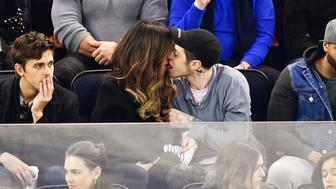 Mandatory Credit: Photo by JD Images/REX/Shutterstock (10129783k) Kate Beckinsale and Pete Davidson Celebrities attend New York Rangers game, New York, USA - 03 Mar 2019