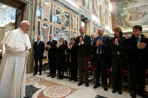 Papa Francisco em audiência sobre os Arquivos Secretos do