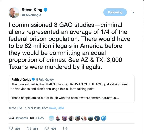 Steve King Promotes White Nationalist On Twitter … For The Third