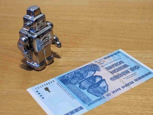 100兆ジンバブエドルは価値の半減期1日という伝説の紙幣