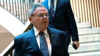 Senate Foreign Relations Committee ranking member, Sen. Bob Menendez, D-N.J., heads to a closed-door briefing on Capitol Hill in Washington, Monday, March 4, 2019, on the global Magnitsky Act investigation related to the killing of journalist Jamal Khashoggi. (AP Photo/Susan Walsh)