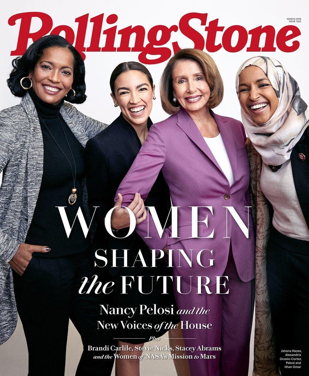 ローリングストーン誌「未来を築く女性たち」表紙