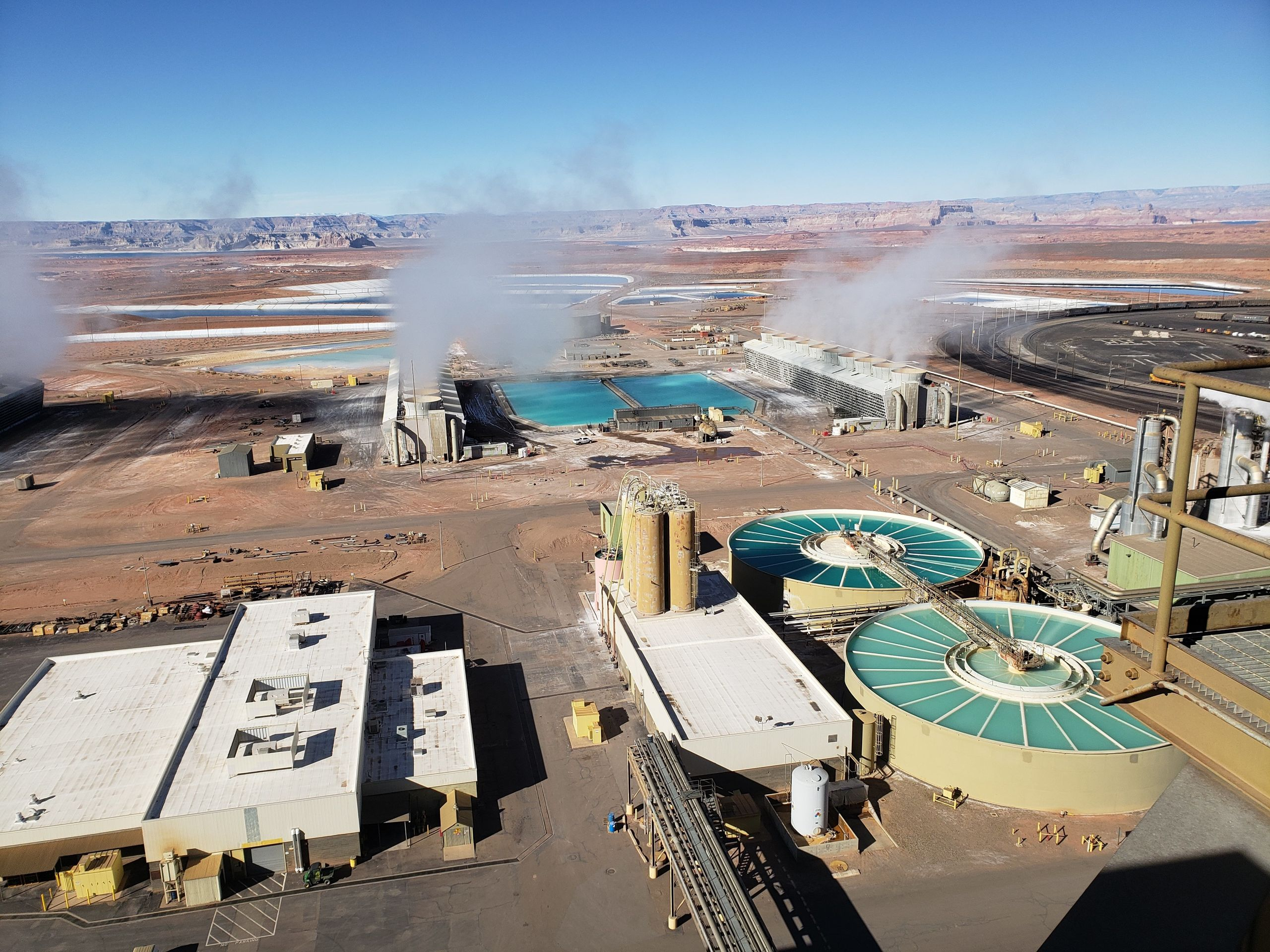 Pools adjacent to the Navajo Generating Station in northern Arizona.