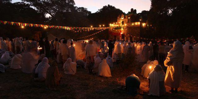Timkat festival in Gonder,