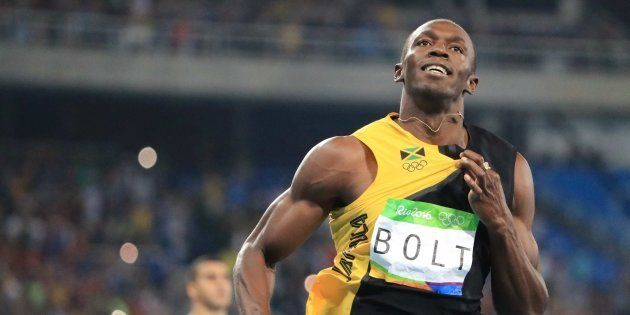 Usain Bolt of Jamaica at the 2016 Olympic