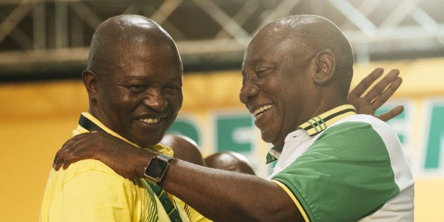 Cyril Ramaphosa, South Africa's deputy president and newly elected president of the African National...