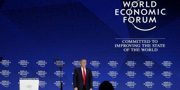 U.S. President Donald Trump attends the World Economic Forum (WEF) annual meeting in Davos, Switzerland...