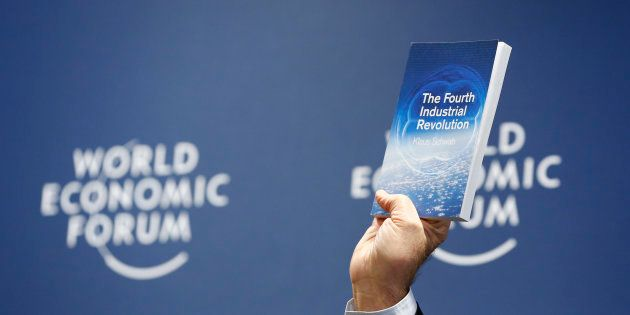 World Economic Forum (WEF) Executive Chairman and founder Klaus Schwab presents his book, 'The Fourth...