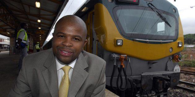 Former Prasa CEO Lucky Montana at Pretoria station on January 18,