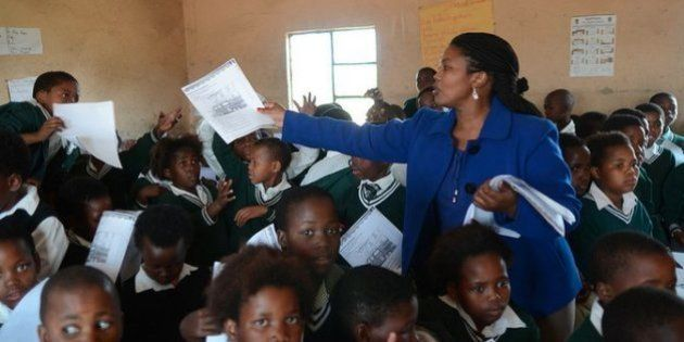 Nomzekelo Ndibongo, a teacher in South Africa, with her
