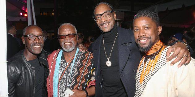 Don Cheadle, John Kani, Snoop Dogg and Atandwa Kani at the Los Angeles world premiere of 'Black