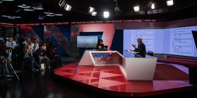 The New Age and ANN7 proprietor Mzwanele Manyi during the announcement on the shareholding of his company,...