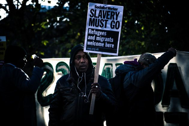 In response to the slave trade in Libya, African Lives Matter held a national march in London on December