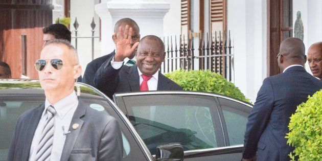 I got this... Deputy President Cyril Ramaphosa earlier this week in Cape