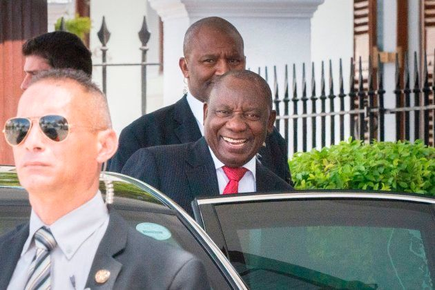 Deputy President Cyril Ramaphosa leaves Tuynhuys on February 8, 2018, in Cape