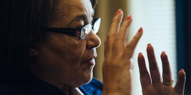 Patricia de Lille, mayor of Cape Town, speaks during an interview at her office in Cape Town, South Africa...