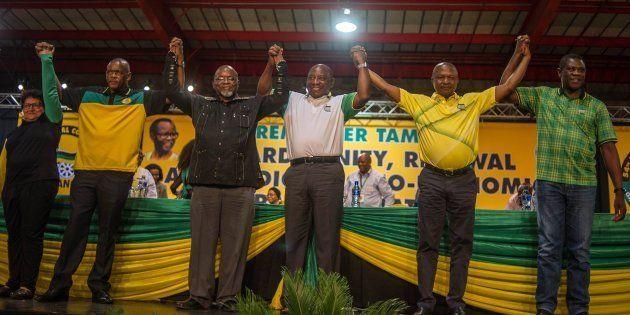 ANC top six: Deputy secretary-general Jessie Duarte, secretary-general Ace Magashule, national chair...