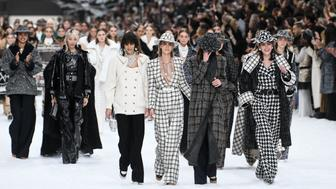 PARIS, FRANCE - MARCH 05:  Models walk the runway during the Chanel show as part of the Paris Fashion Week Womenswear Fall/Winter 2019/2020 on March 5, 2019 in Paris, France.  (Photo by Yanshan Zhang/Getty Images)