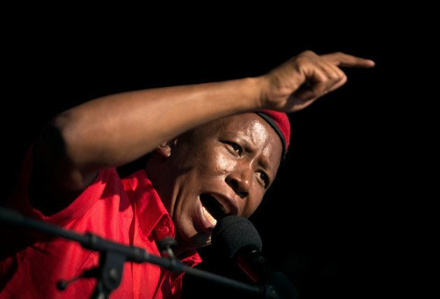 Leader of the South African radical-left opposition party Economic Freedom Fighters (EFF), Julius