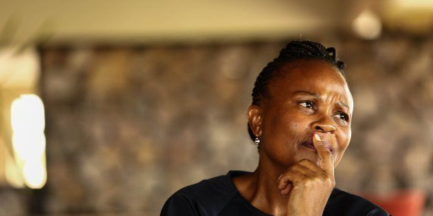 Public protector Busisiwe Mkhwebane during an interview in