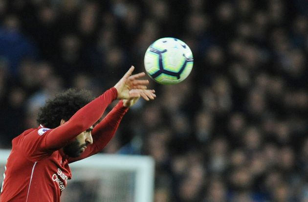 L'Egyptien Mohamed Salah lors d'un match entre Liverpool et Everton, le 3 mars