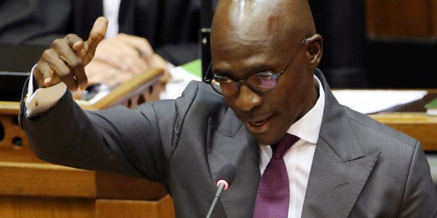 Former finance minister Malusi Gigaba delivers the Budget in Parliament. February 21,