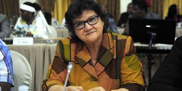 Public Enterprises Minister Lynne Brown before the start of the Cabinet lekgotla last