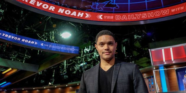 Television host Trevor Noah poses for a picture as he attends an interview with Reuters in New York July...
