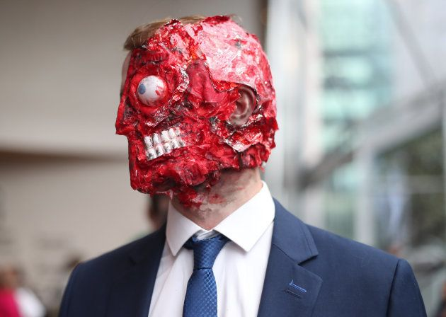 Eoin O'Connor as Two Face, at the annual Comic Con at the Dublin Convention