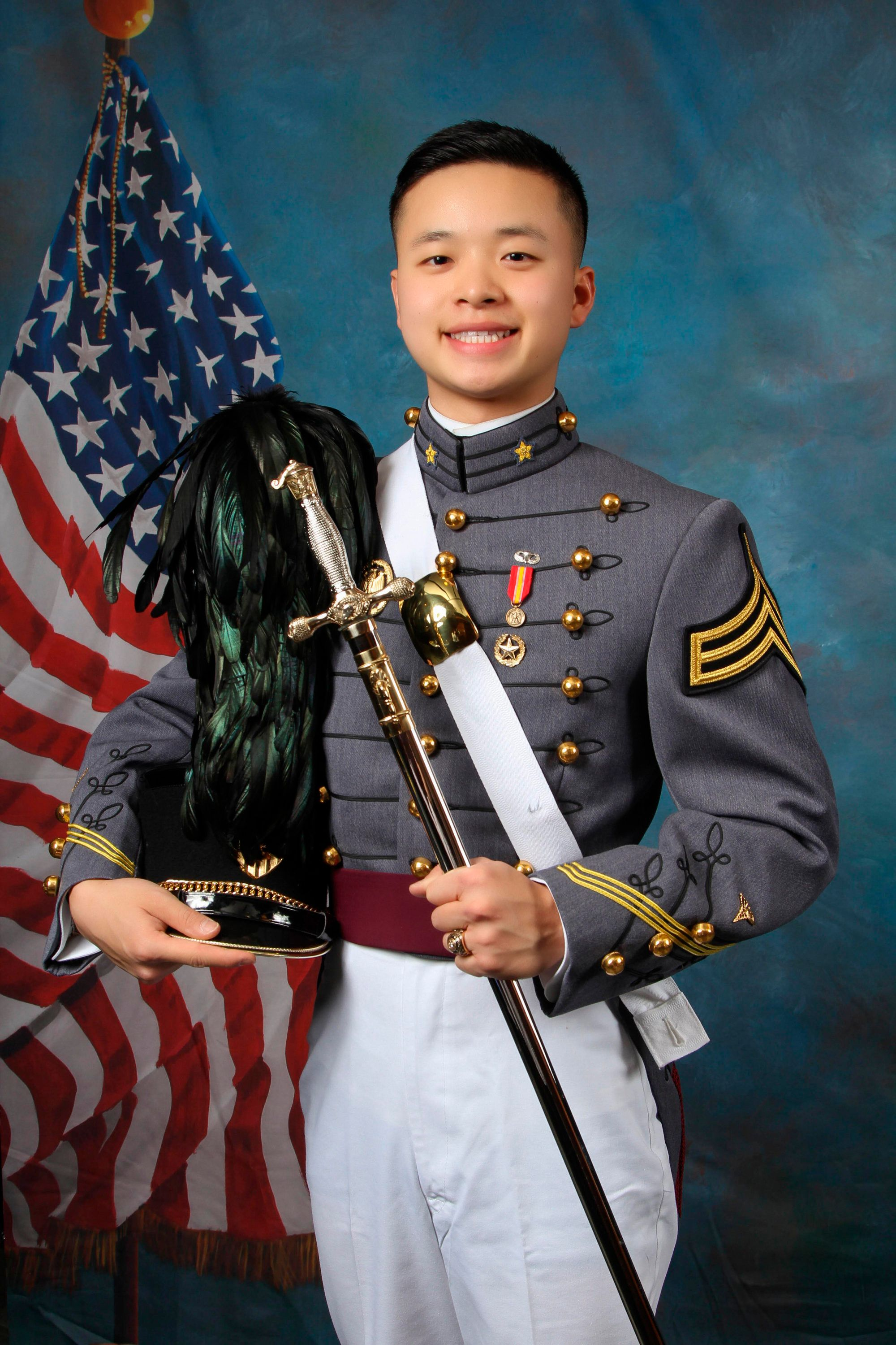 This undated photo provided by the U.S. Military Academy at West Point shows West Point Cadet Peter Zhu who died on Feb. 28, 2019 of injuries he sustained while skiing on Feb. 23 at Victor Constant Ski Area on the academy grounds. The parents of Peter Zhu have received a judge's permission to retrieve his sperm for possible artificial insemination.  (U.S. Military Academy at West Point via AP)