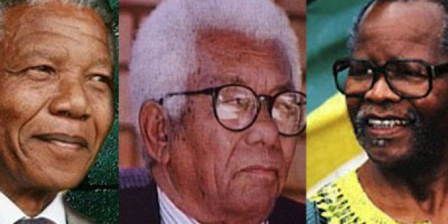 From left: Nelson Mandela, Oliver Tambo and Walter