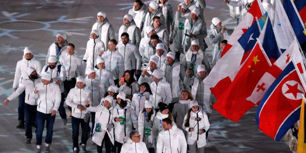 Olympic Athletes from Russia during the closing