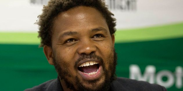 Andile Mngxitama expresses his views during a discussion about the widespread allegations that the Guptas...