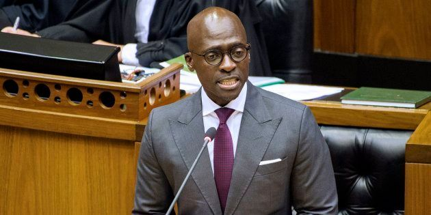Former finance minister Malusi Gigaba delivers the 2018 Budget speech in the National Assembly on February...