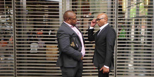 ANC spokesperson Zizi Kodwa and SASSA CEO Thokozani
