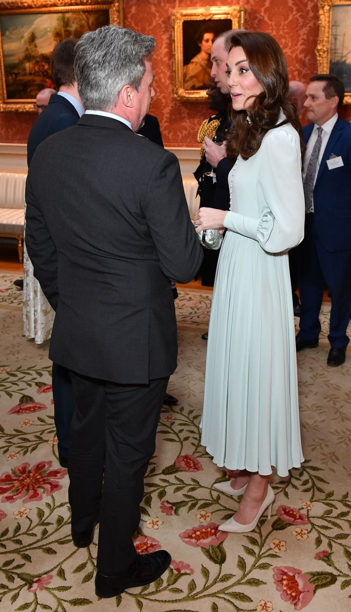 A better look at the Duchess of Cambridge's gorgeous gown.