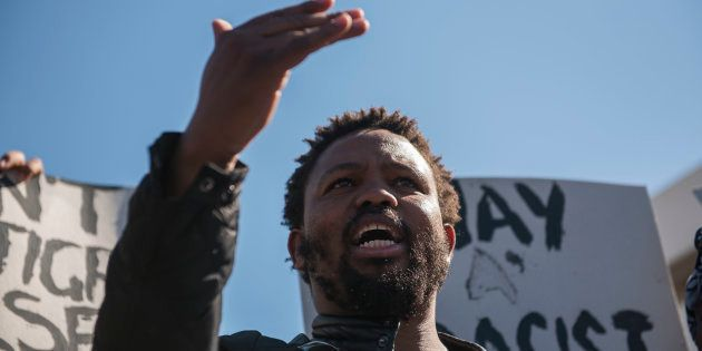 Black Land First (BLF) members led by Andile