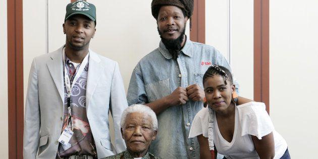 46664 artists, members of Bongo Maffin, Tshepo Seate (aka Stoan), Adrian Mupemhi (aka Appleseed) and...