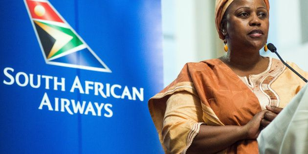 Duduzile Myeni, chairwoman of South African Airways (SAA),Photographer: Waldo