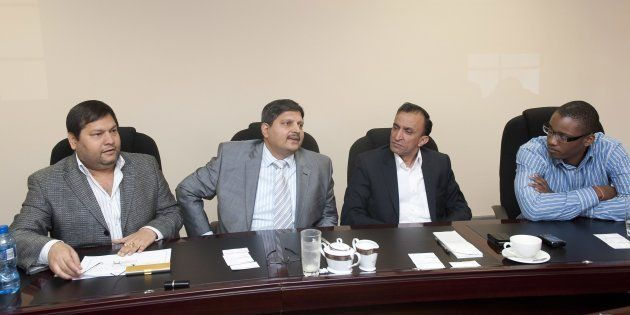 The Gupta brothers with Oakbay MD Jagdish Parekh and Duduzane