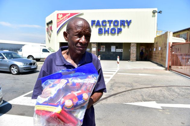 Customers return products to Enterprise outlet in South Africa. (Photo by Lucky Morajane/Foto24/Gallo...