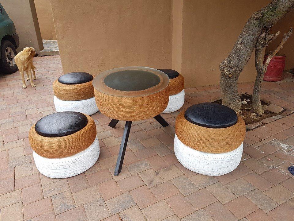 Meet Keratile Mashike The Woman Who Turns Old Tyres Into Amazing Furniture Huffpost Uk