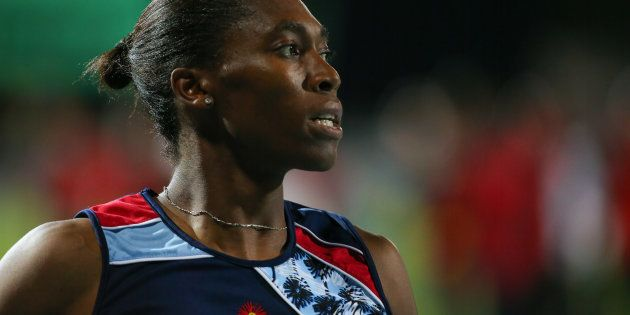 Caster Semenya after the final of the women's 800m during day three of the ASA Senior and Combined Events...