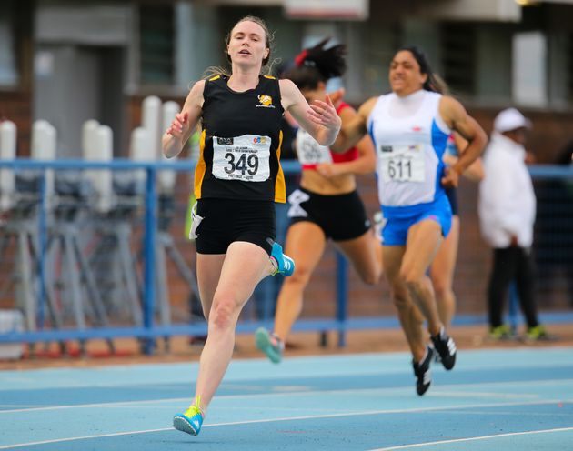 Justine Palframan wins the women's 200m final during day three of the ASA Senior and Combined Events...