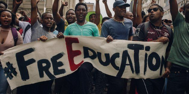 Hundreds of students demonstrate as part of a nationwide movement against higher university tuition fees...