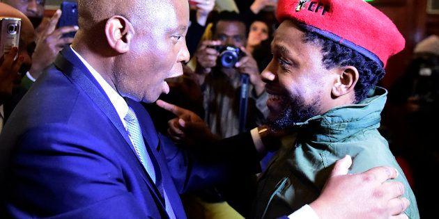 JOHANNESBURG, SOUTH AFRICA – AUGUST 22: Newly elected City of Johannesburg Mayor Herman Mashaba celebrates...
