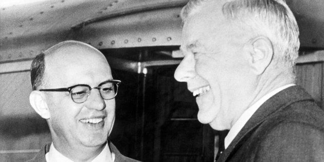 HF Verwoerd and PW Botha on 14 December 1959. Verwoerd is considered