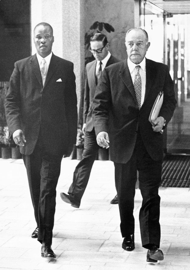 South African Prime Minister John Vorster (right) with the Chief Minister of the Transkei, Kaizer Matanzima,...