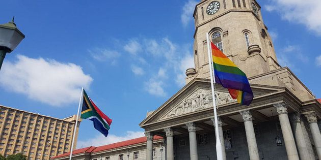 LGBTQI Flag Flies At Tshwane City Hall In Historic Human Rights First For